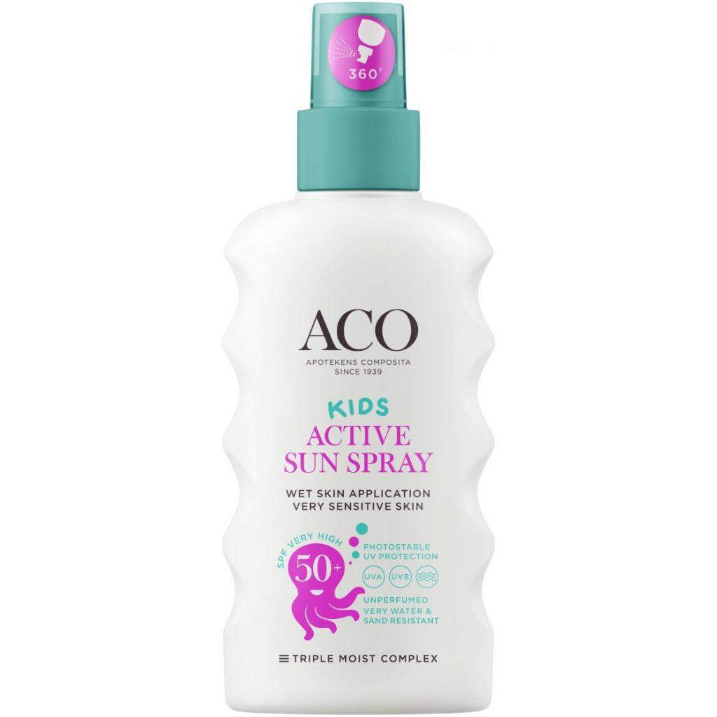 Bästa Solkrämen för barn 2020 - 7 ACO Kids Pump Spray SPF 50+